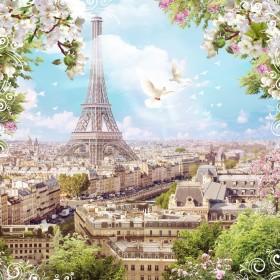 башня в розовых тонах