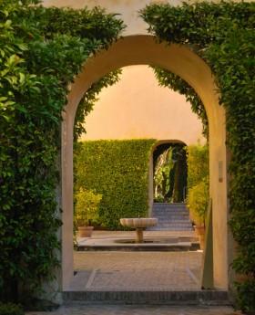 арка в сад