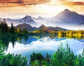 горы озеро