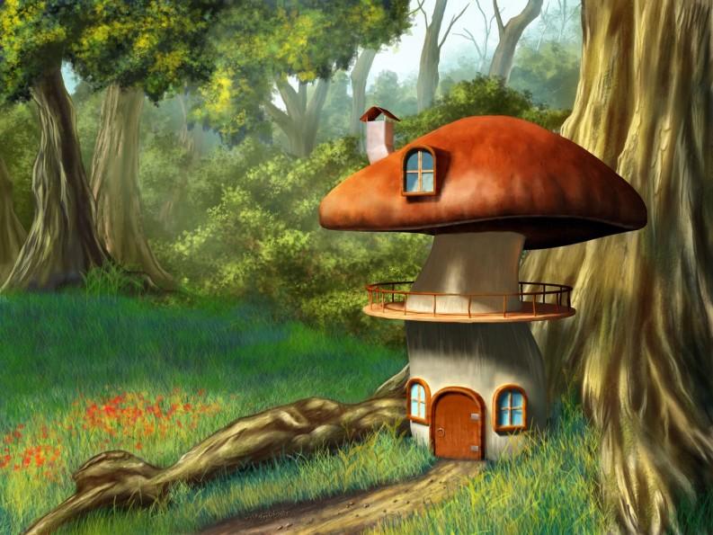 домик в грибочке