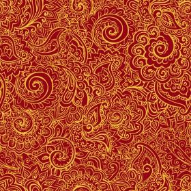 золотые узоры на красном фоне