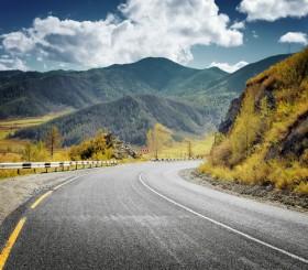 гора, дорога