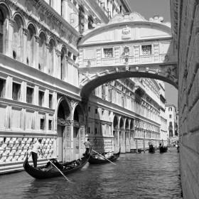 венеция,черно белый