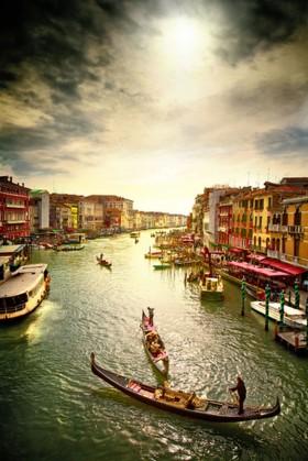 венеция, облачное небо