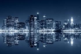 манхэттен, ночной вид