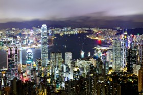гонконг, огни города