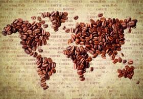 карта из кофейных зерен