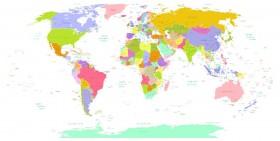 карта на белом фоне