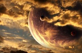 планета, облака
