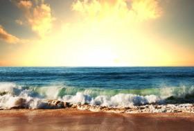 волны, берег