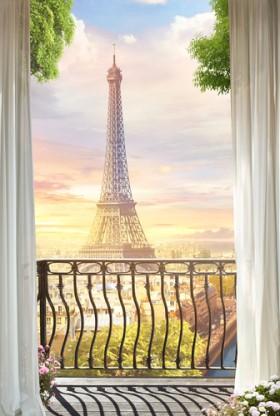 балкон Эйфелева башня