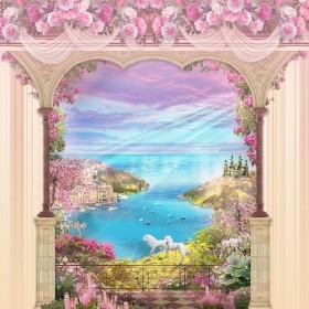 арка розовая