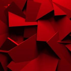абстракция, красная