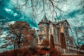 дом деревья