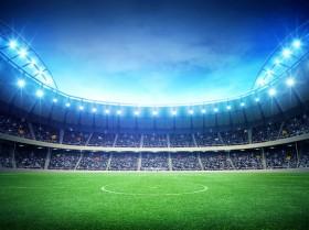 стадион, прожекторы