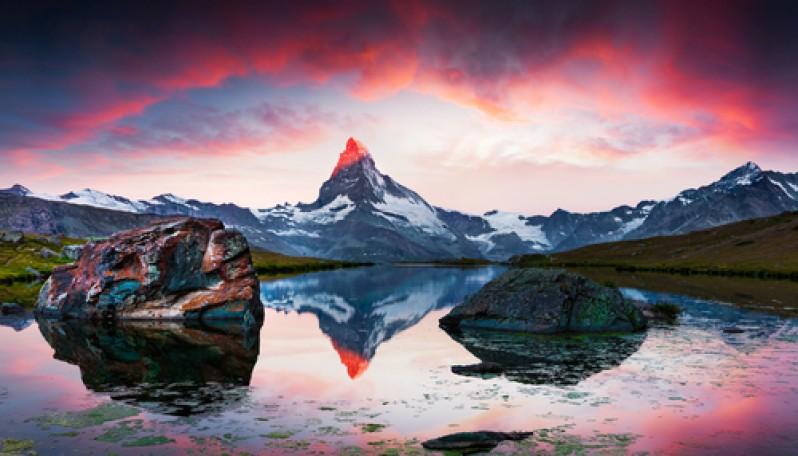 горы рассвет