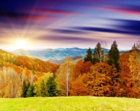 пейзаж рассвет
