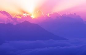 горы закат