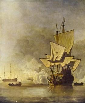 Виллем ван де Велде - Орудийный залп