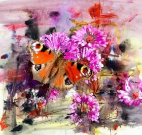 бабочка цветы